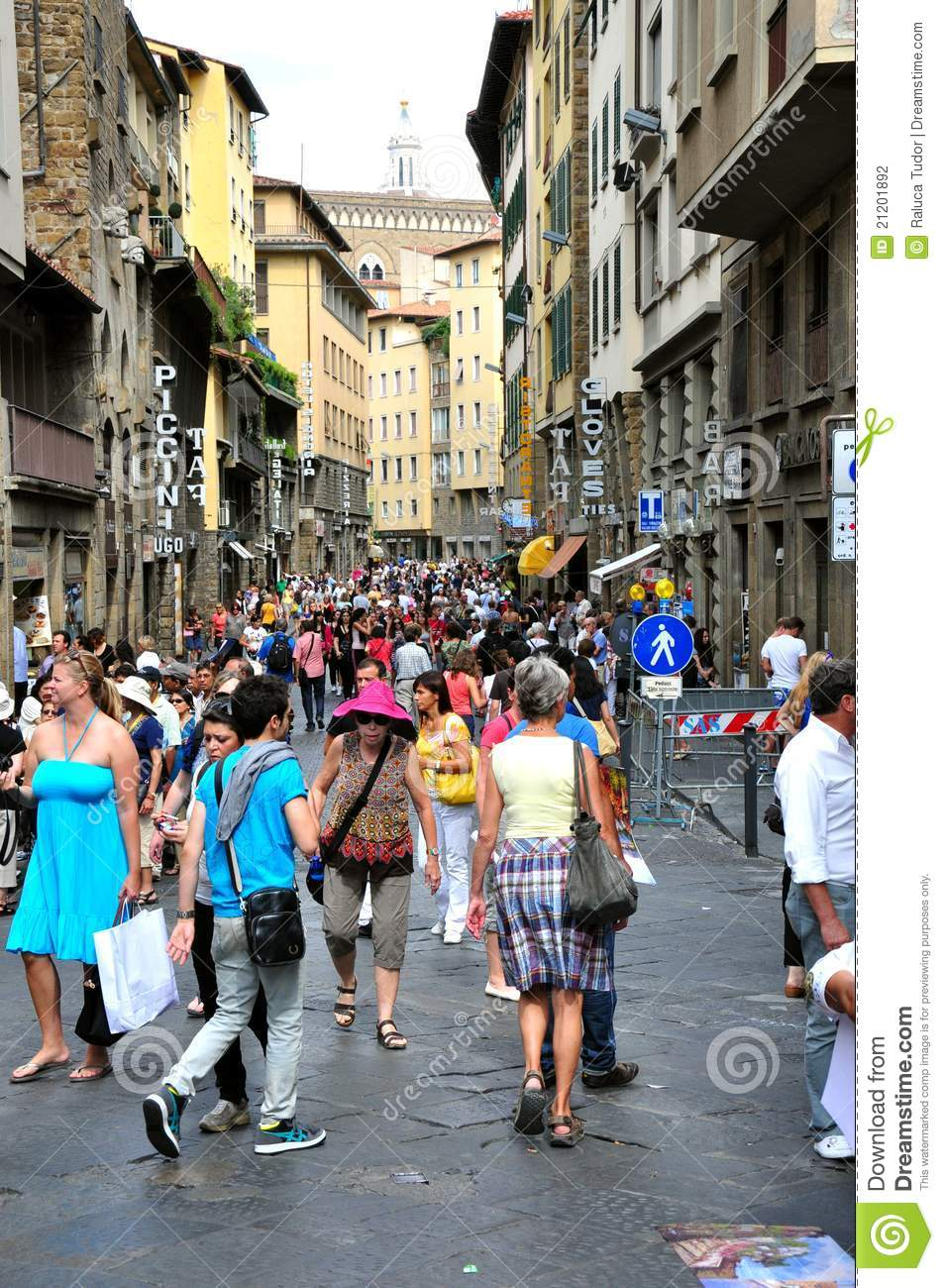 Tourists In Florence Italy Editorial Photography Image