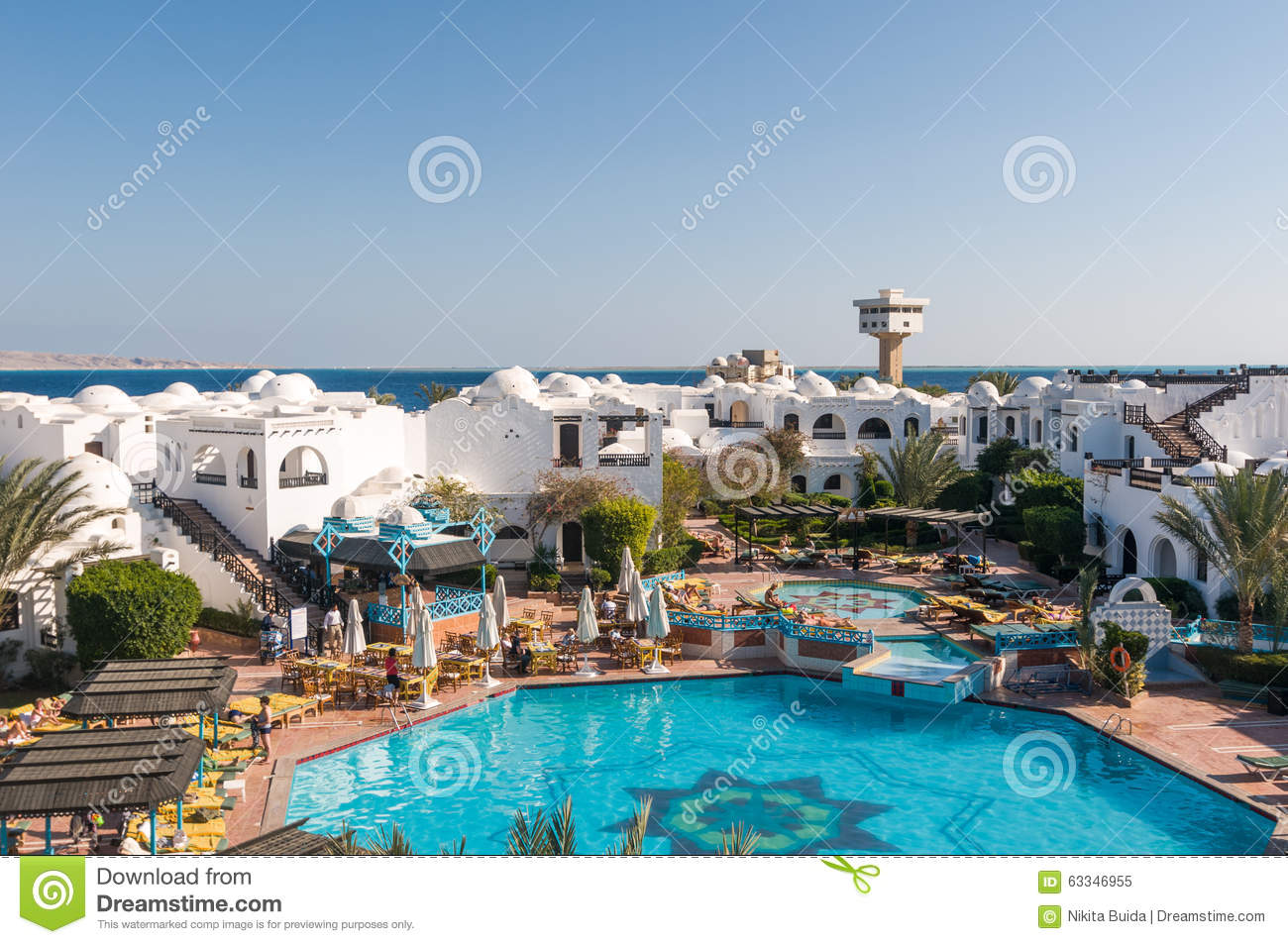 Tourists At Hurghada Hotel Editorial Image Image Of Coastline