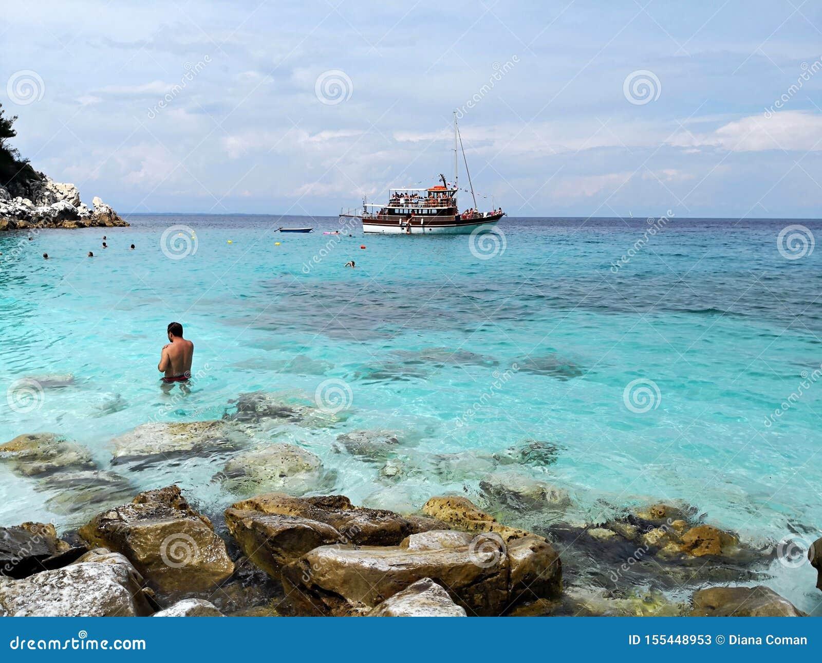 Marble Beach Saliara Beach Thassos Island Greece