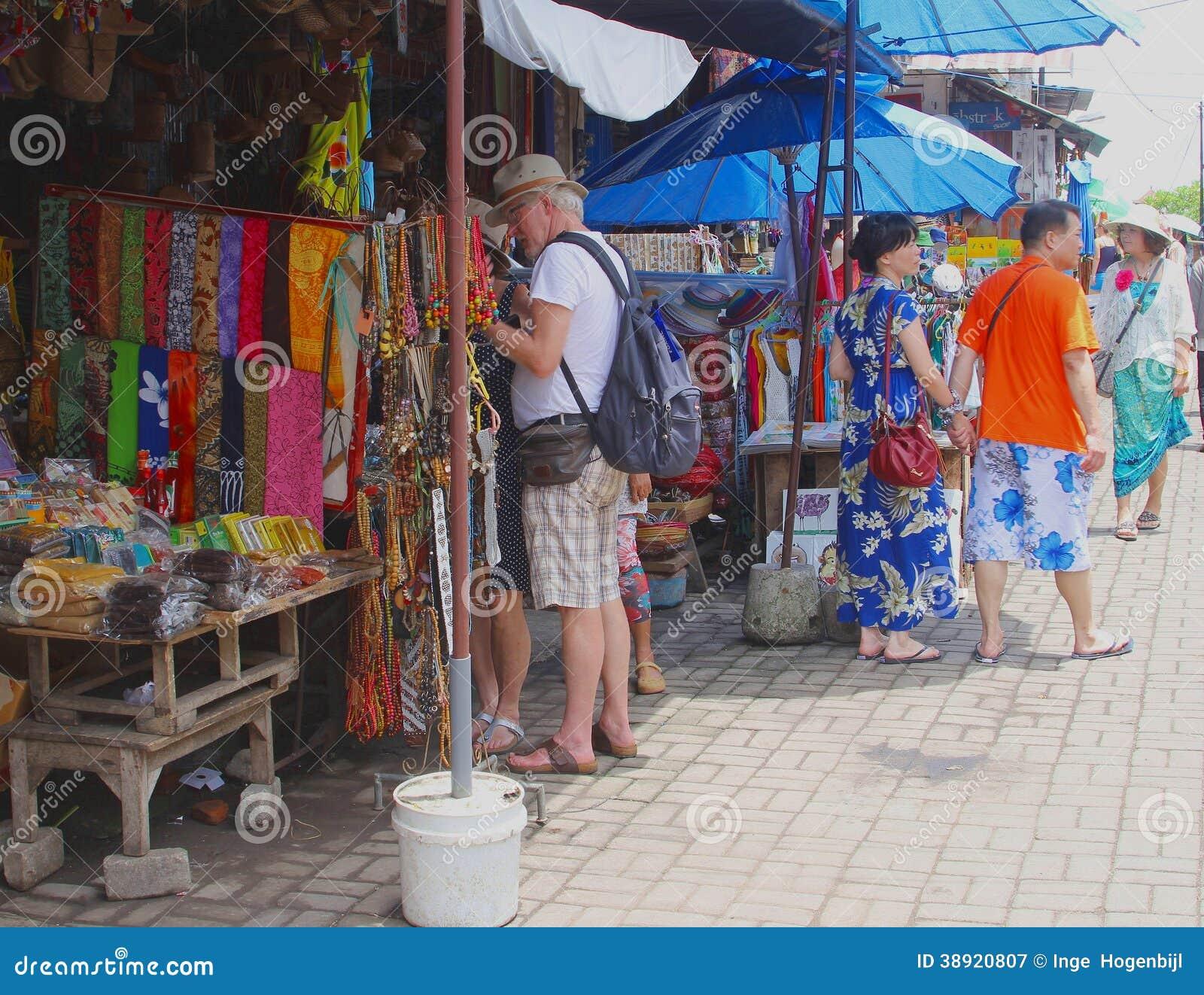 Shopping At The Arts Market In Ubud, Bali Editorial