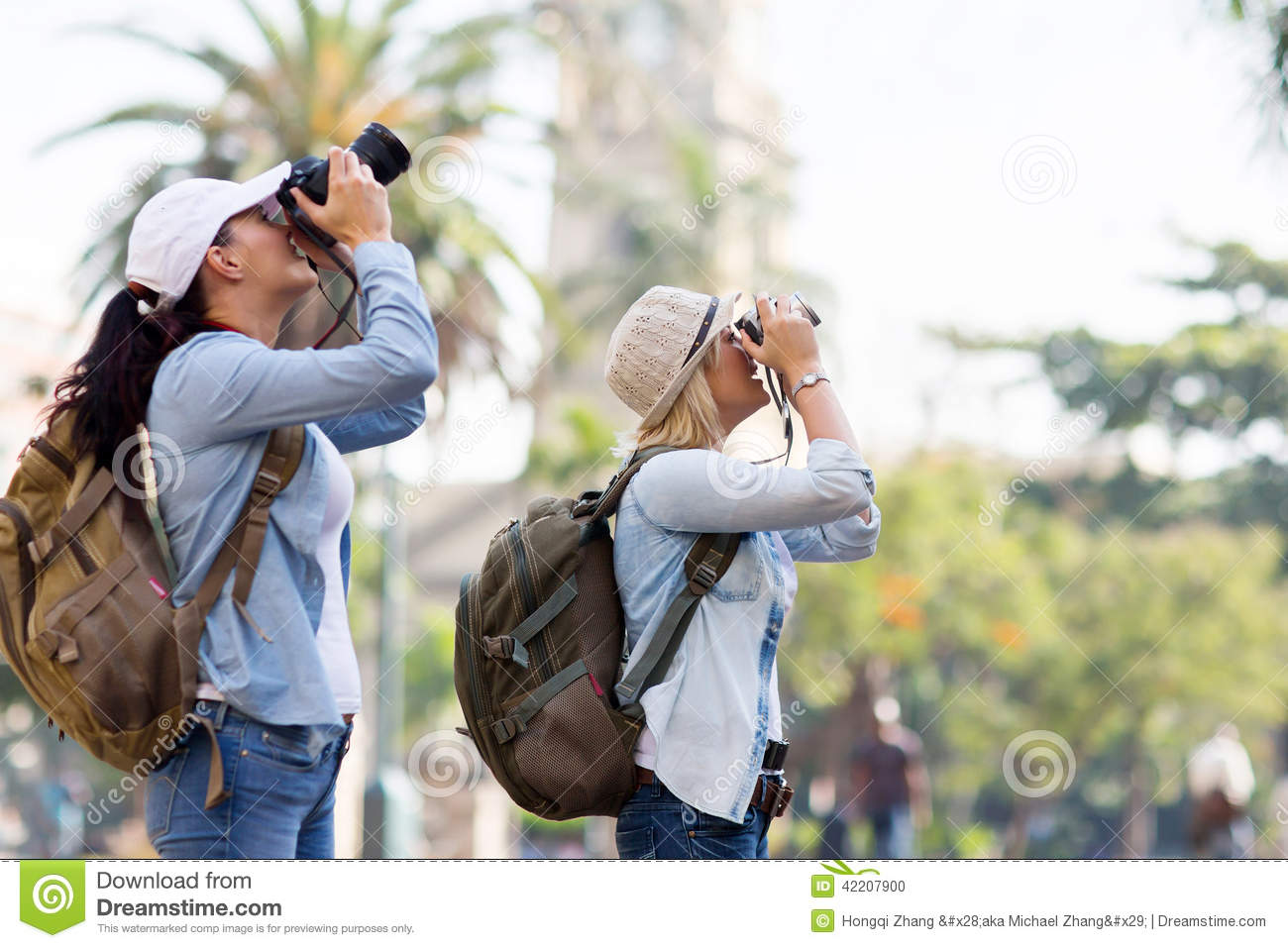 Tourists Taking Pictures Stock Photo Image Of Destination