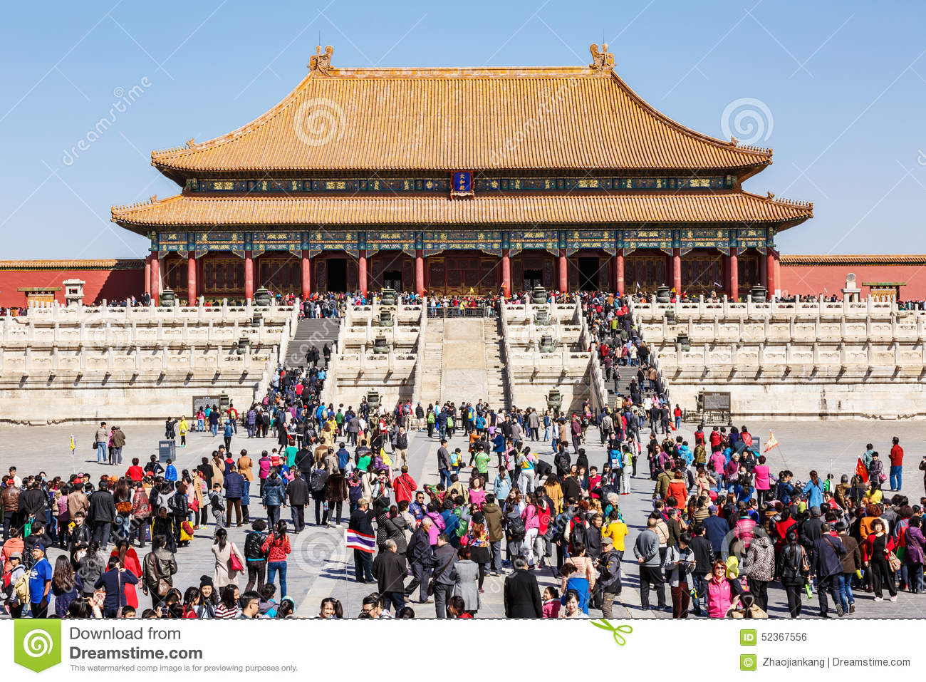 Download Tourists To Visit Beijing The Forbidden City In China Editorial Photo - Image of color, empire: 52367556