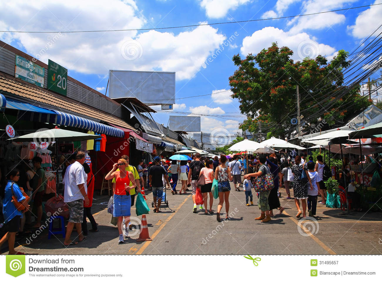 Tourists Visit Chatuchak Weekend Shopping Market In ...