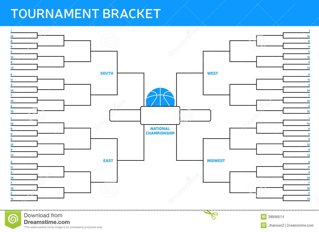 Tournament Bracket Stock Vector Image 38896614