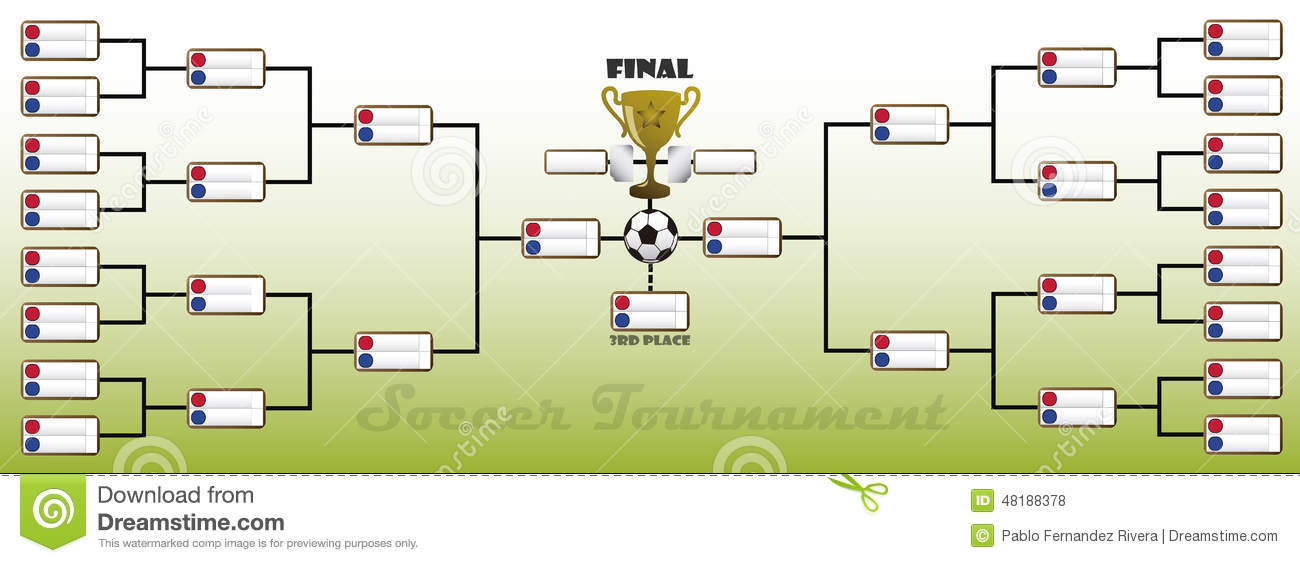 Tournament Bracket Stock Illustration - Image: 48188378