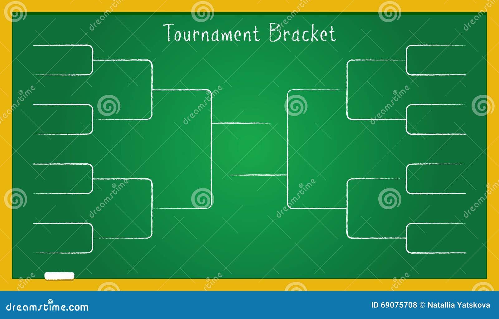 tournament bracket on school board stock vector