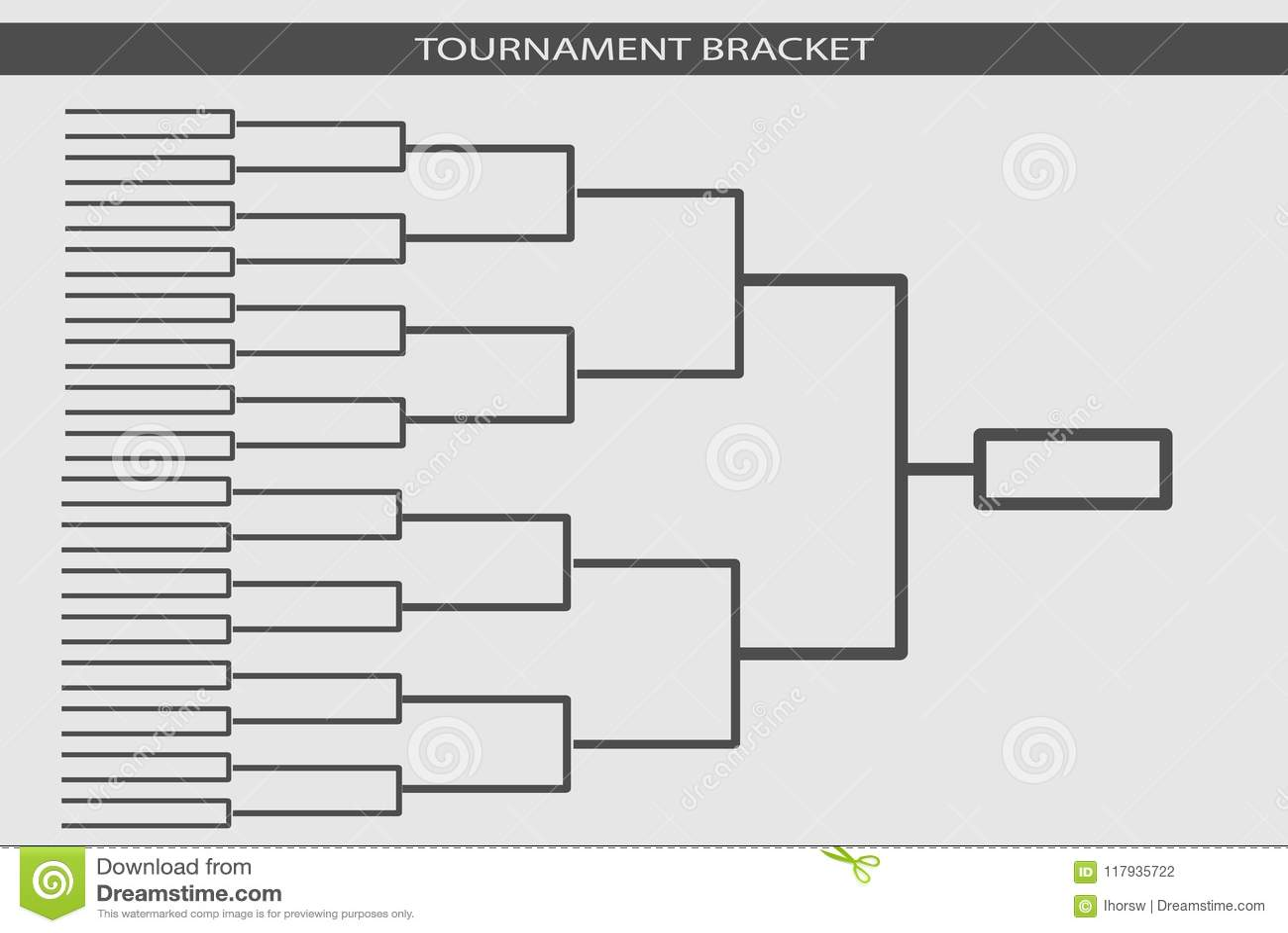 Tournament Bracket Vector Championship Template Stock Vector