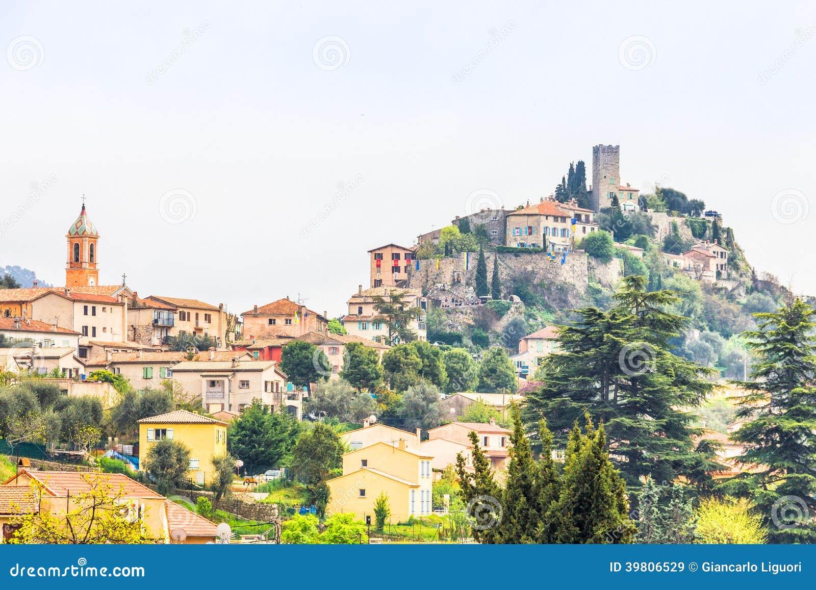 Tourrette-Levens中世纪村庄