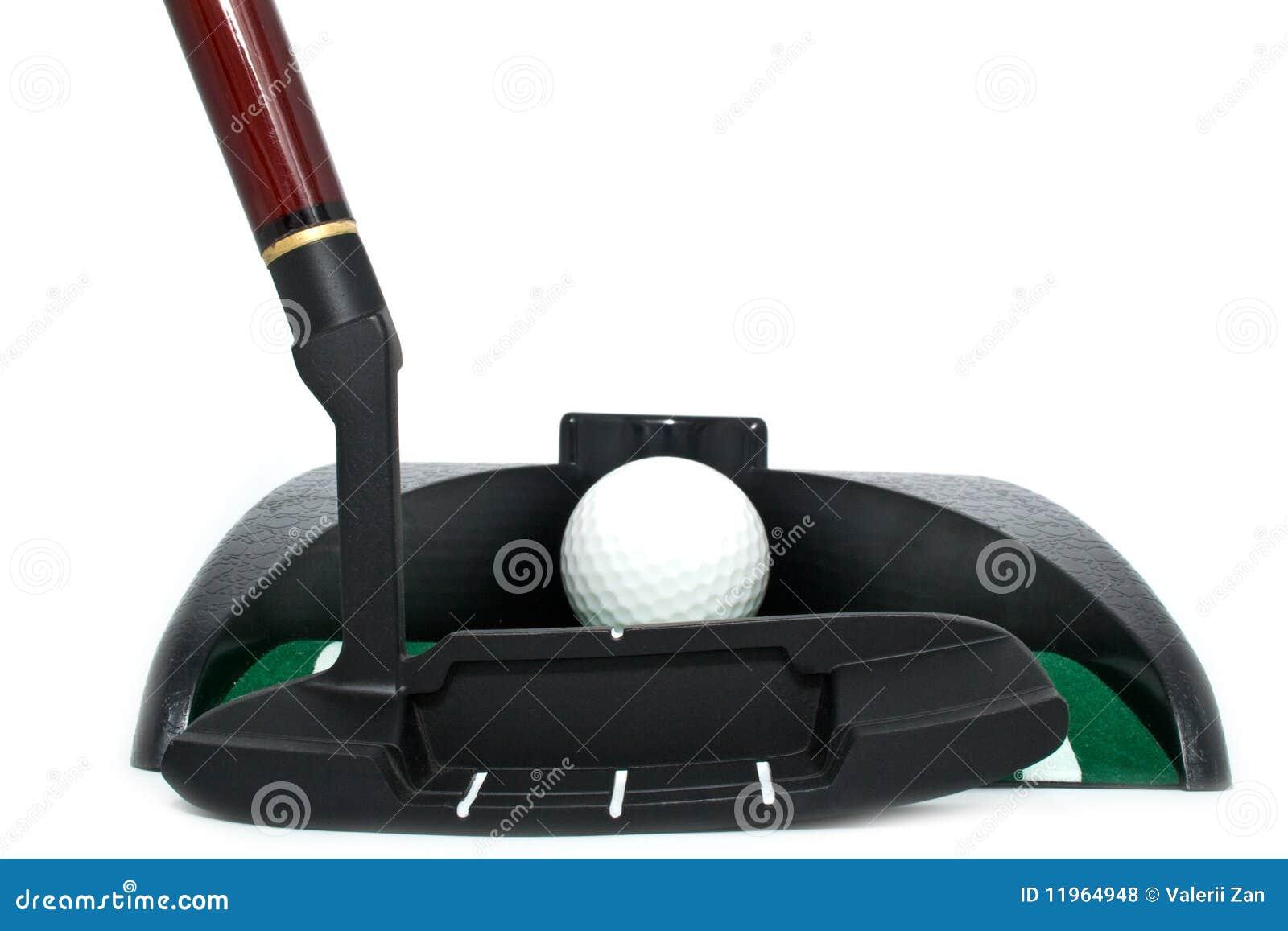 Tous pour jouer au golf dans un bureau photo stock image du