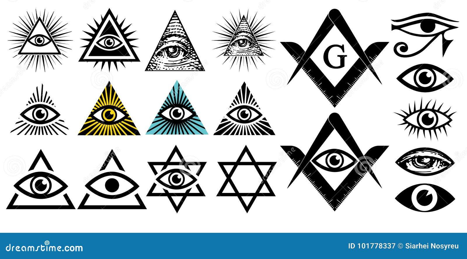 Tout l oeil voyant Symboles d Illuminati, signe maçonnique Conspiration des élites