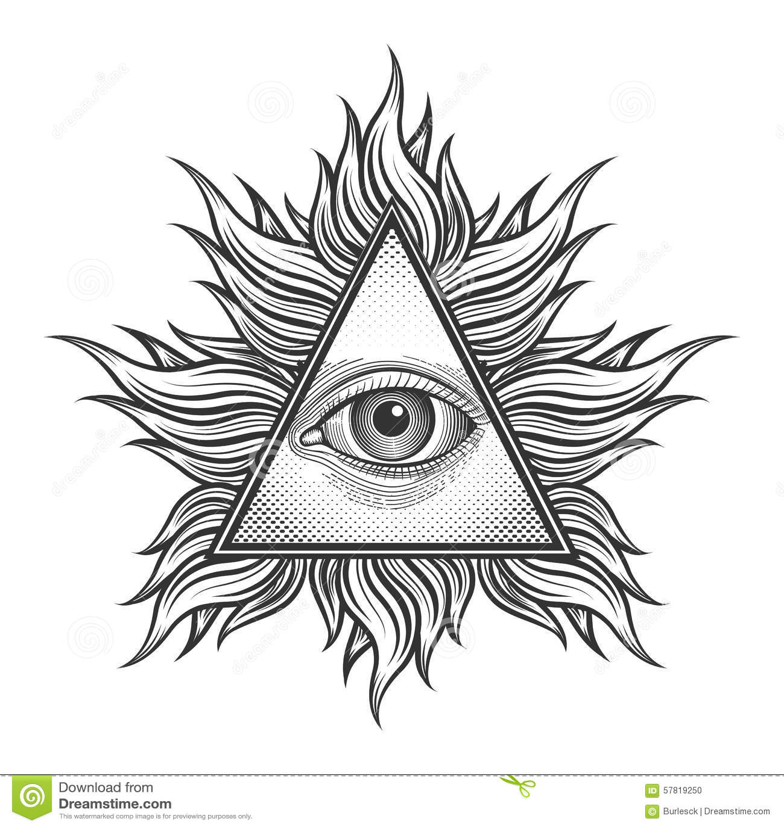 Tout Le Symbole Voyant De Pyramide D Oeil Dans La Gravure