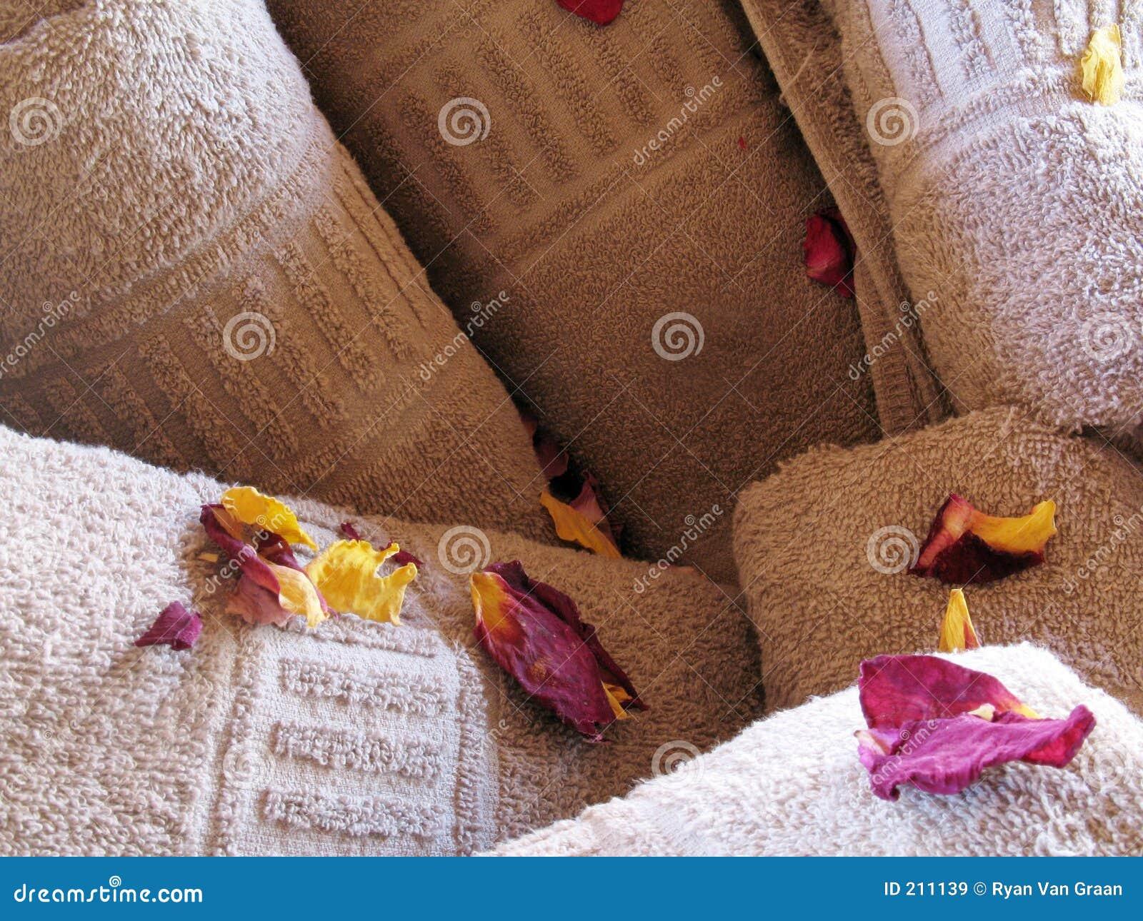 Download Tovaglioli del fiore immagine stock. Immagine di coperta - 211139