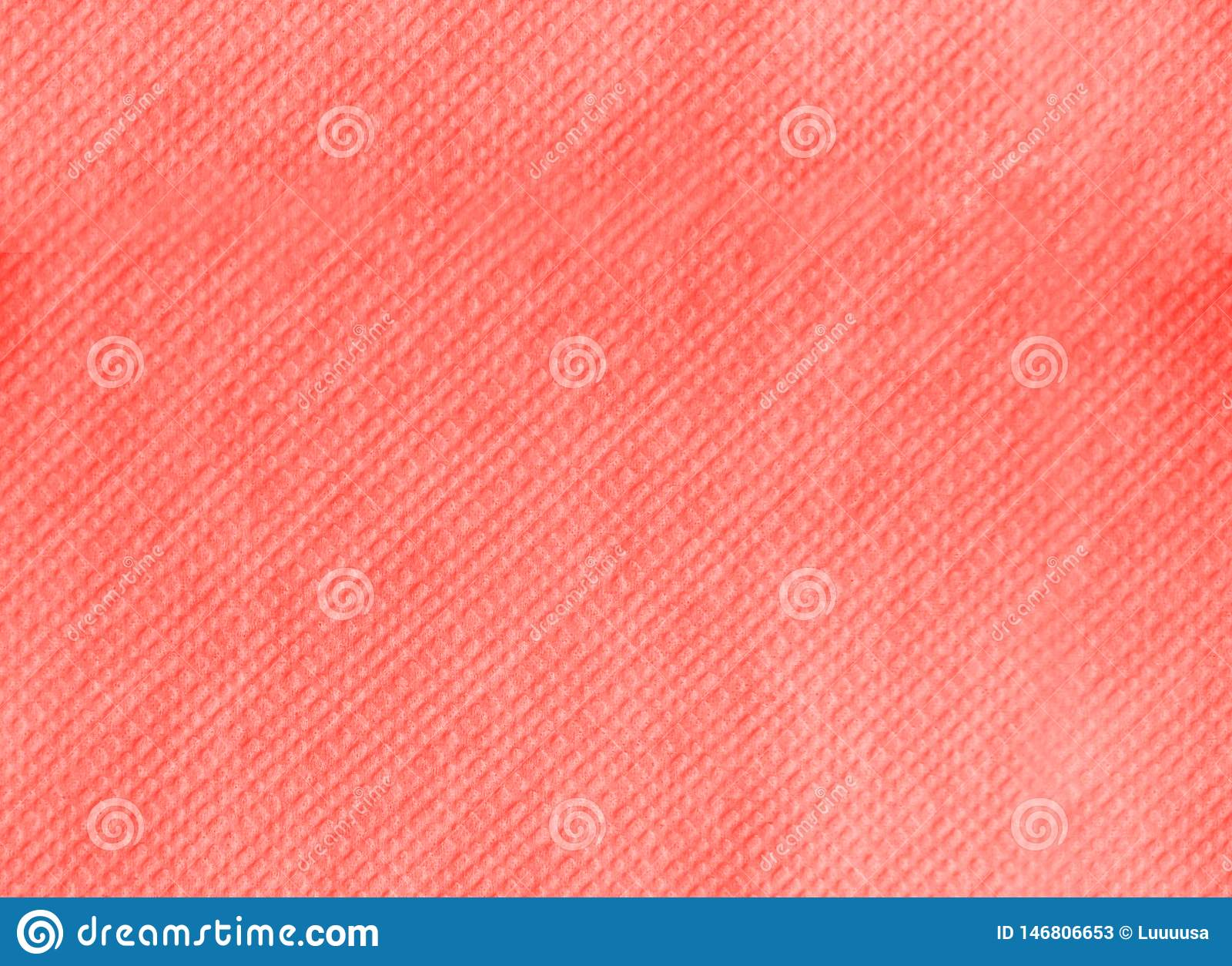 Tovagliolo di carta che imprime struttura senza cuciture Fondo di corallo vivente di colore Colore dell anno 2019 Concetto princi