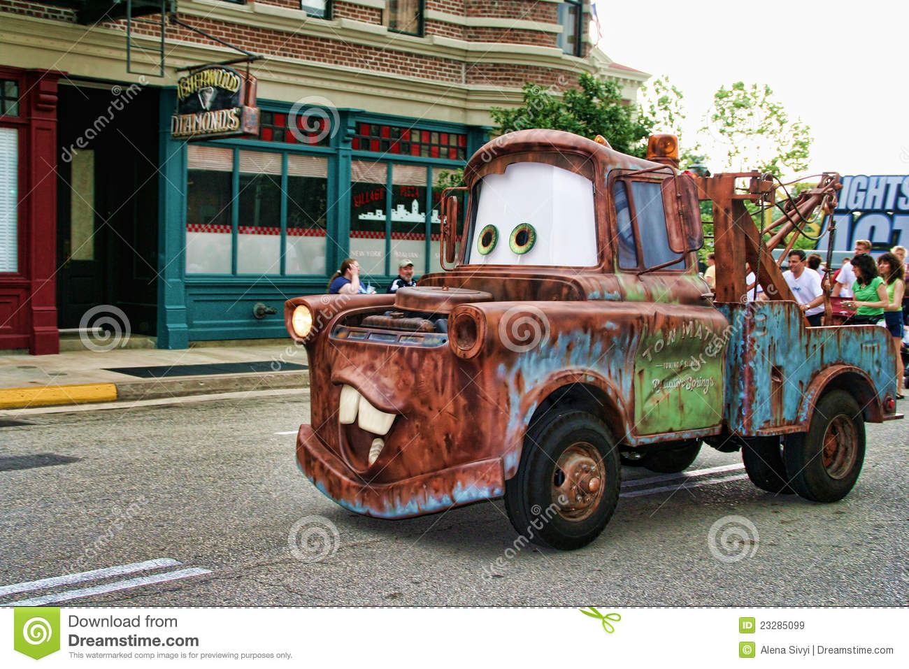 Tow Mater - Disney Pixar Cars at the show parade in Disney World's ...