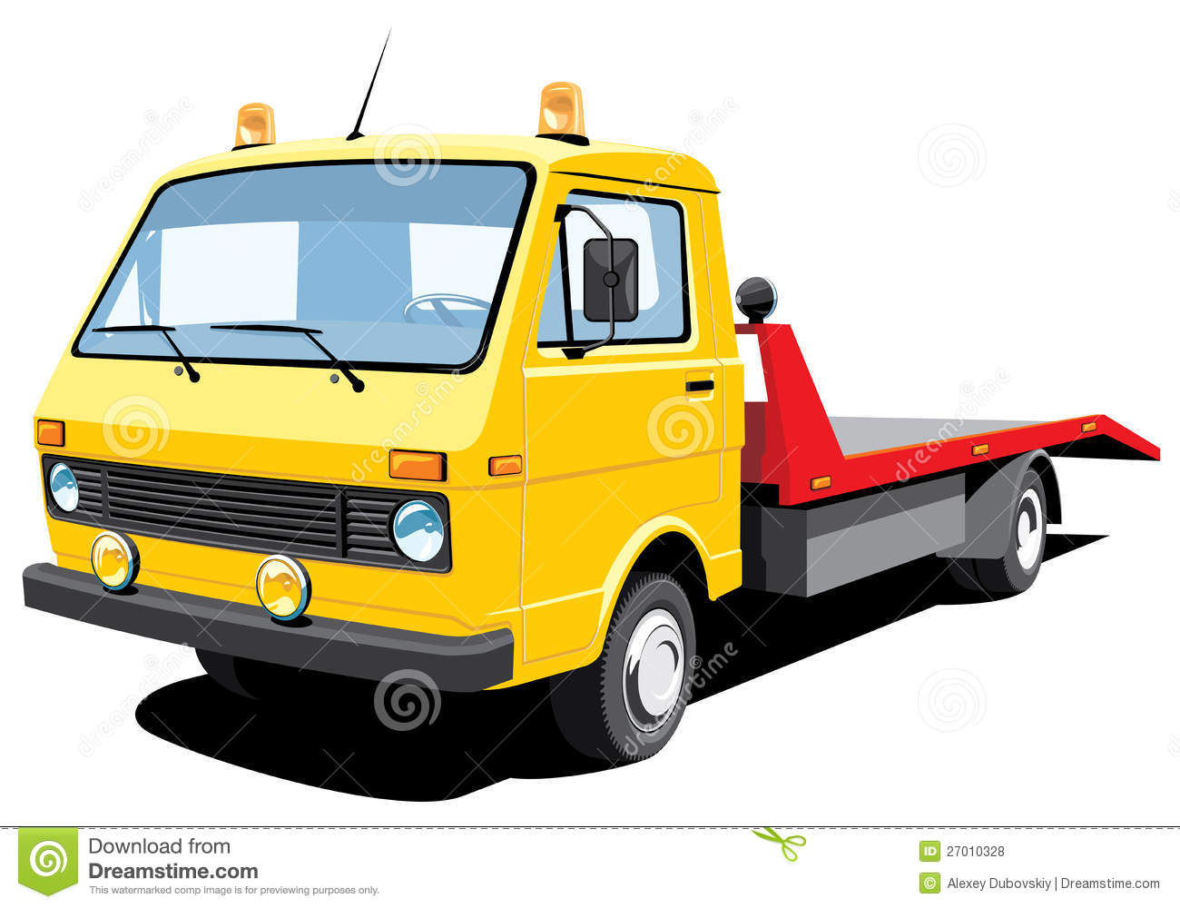 tow truck stock vector image of horizontal vehicle 27010328. Black Bedroom Furniture Sets. Home Design Ideas