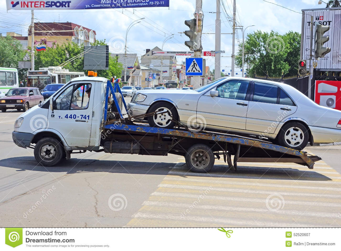 Car Towing Truck Takes Away Damaged Car Editorial Photo | CartoonDealer.com #38061805