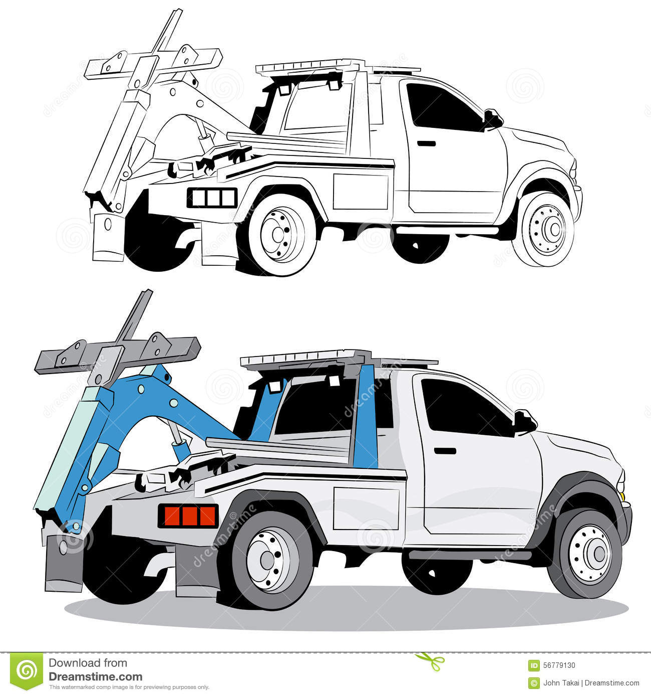 Tow Cartoons, Illustrations & Vector Stock Images