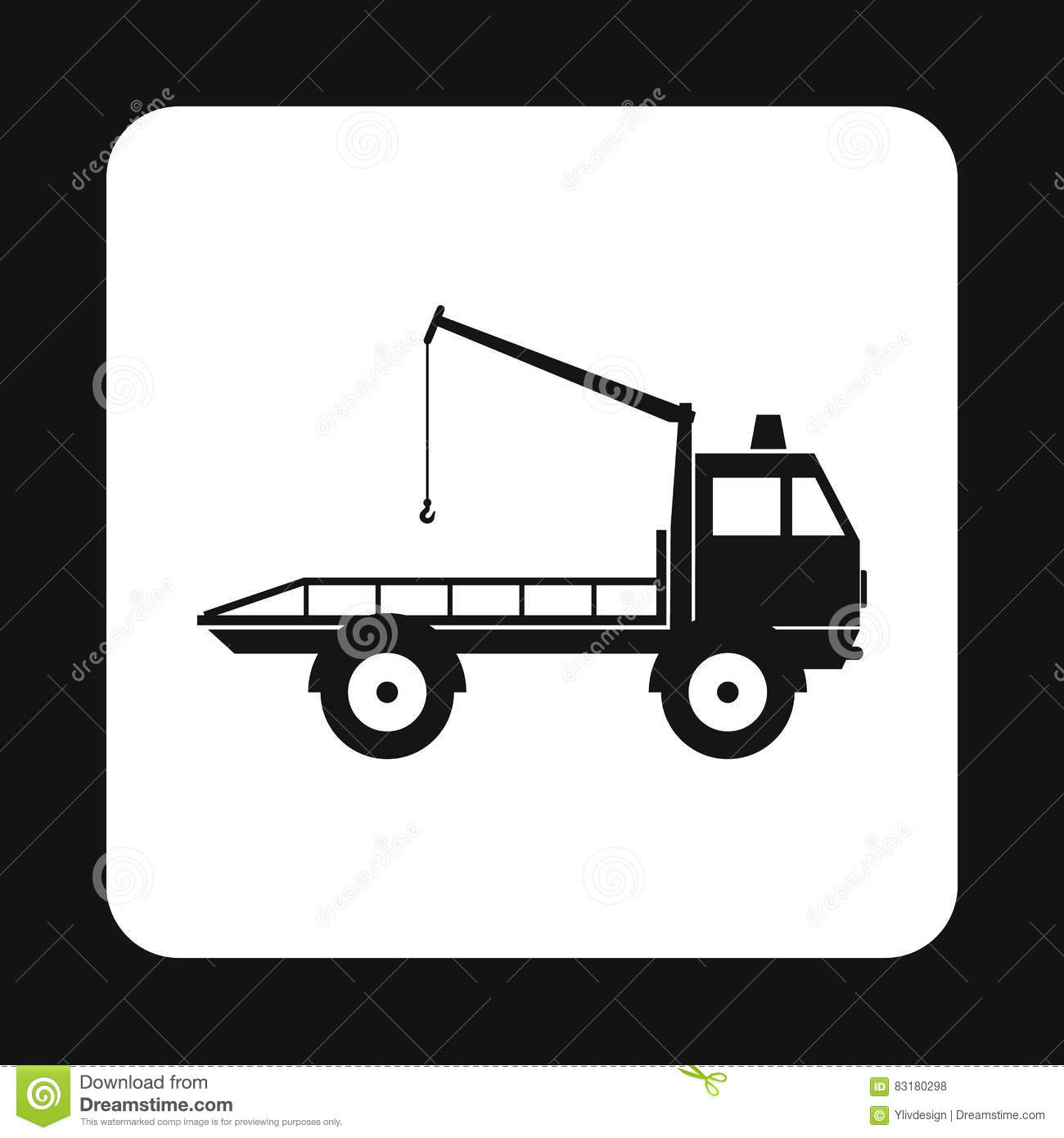 Tow Truck Icon Simple Style Stock Vector Illustration Of Park