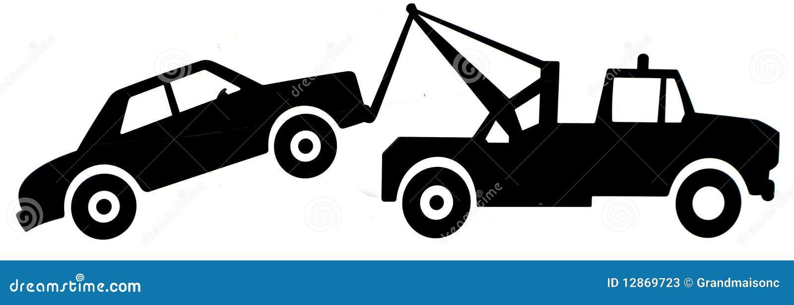 Tow Truck Sign Stock Photos - Image: 12869723