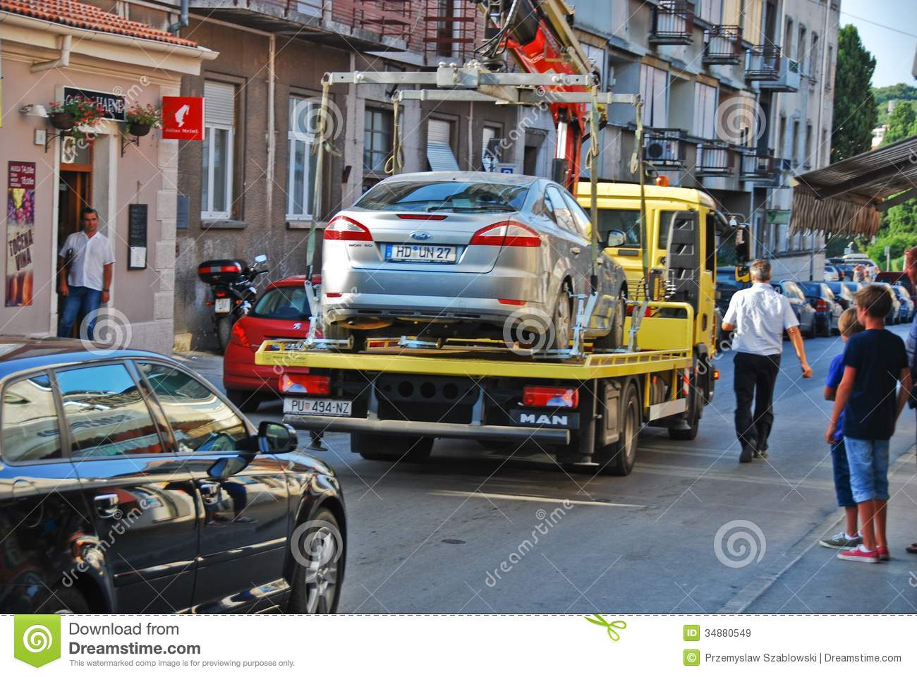 Tow Truck Editorial Stock Image Image 34880549