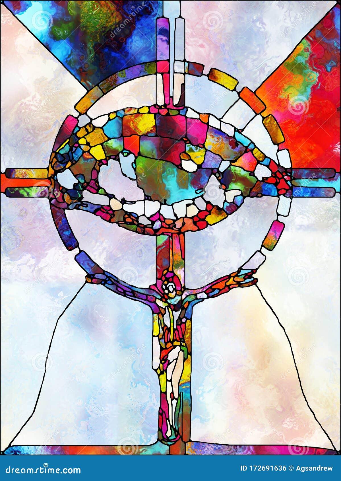 Toward Digital Stained Glass Stock Illustration - Illustration of ...