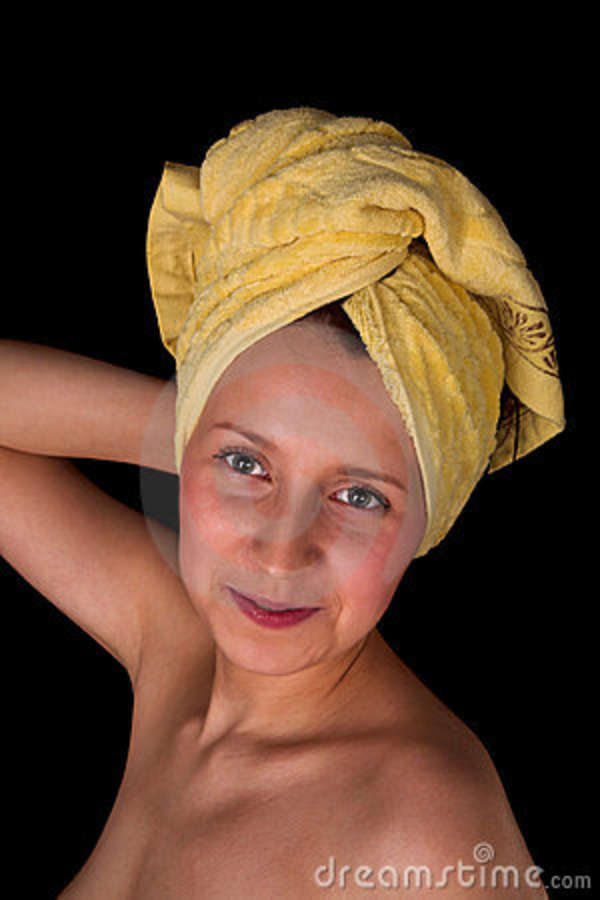 Towel Stock Photo Image Of Relief Smile Lady Shoulder