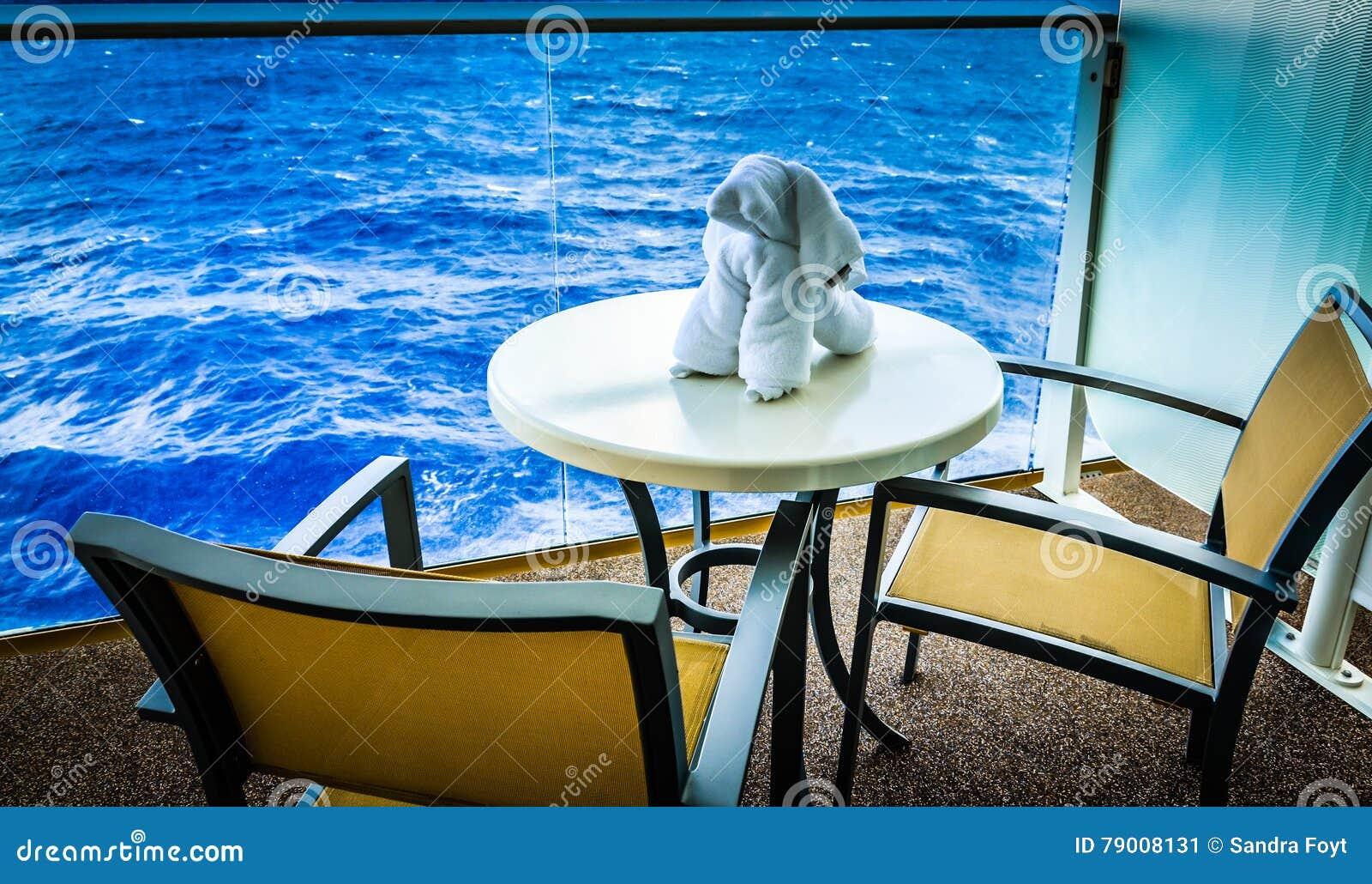 Towel Dog On Cruise Ship Balcony Stock Image Image Of Creature - Cruise ship pool table