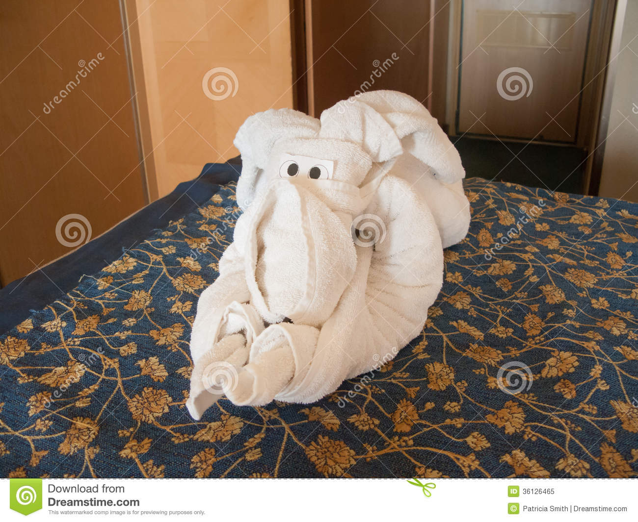 Towel Elephant Origami Stock Image Image Of Accessories 36126465