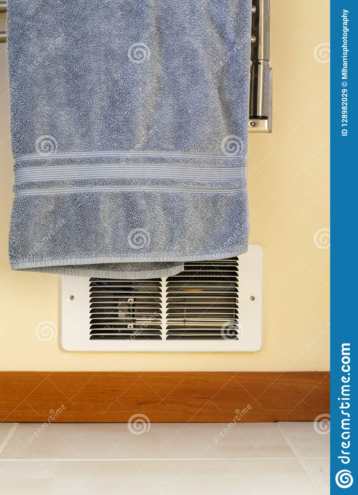 Towel Hanging In Front Of In Wall Electric Baseboard Heater Heating Unit Dangerous House Home Fire Hazards Stock Image Image Of Hanging Unit 128982029