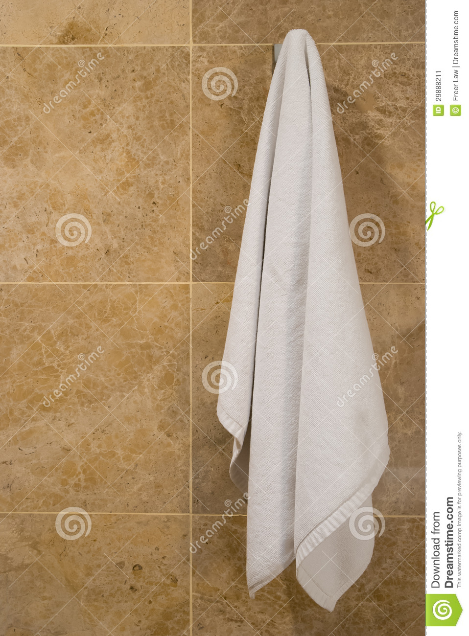 Towel Hanging Stock Image Image Of Room Clean Cotton