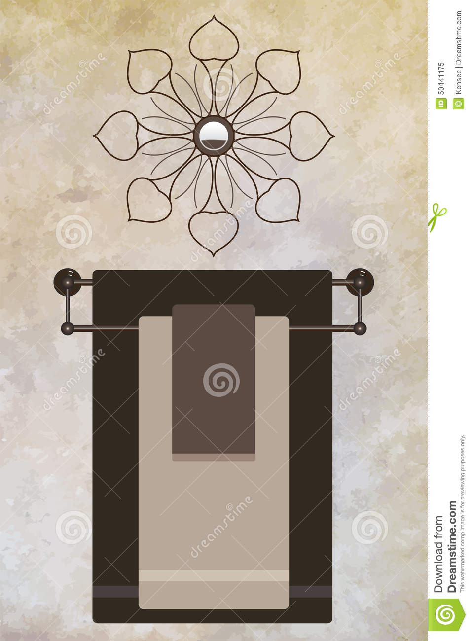 Charmant Towel Rack