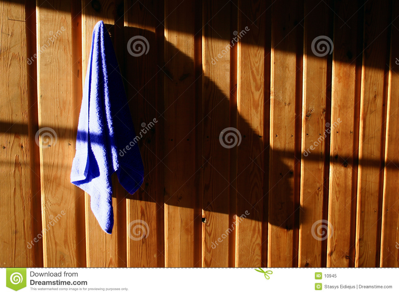 Towel on the wall