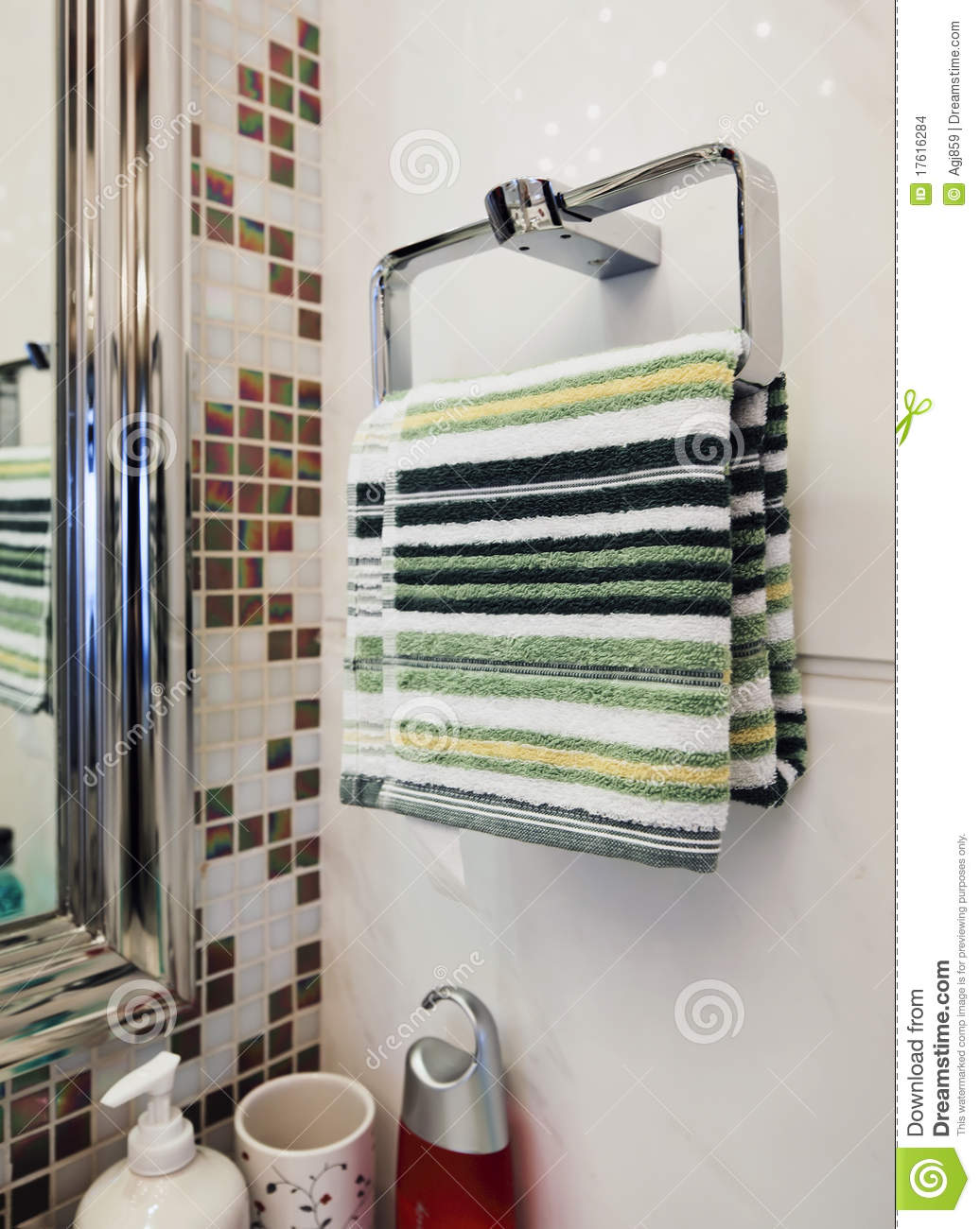 Towels hanging on the wall stock images image 17616284 for Bathroom pictures to hang on wall