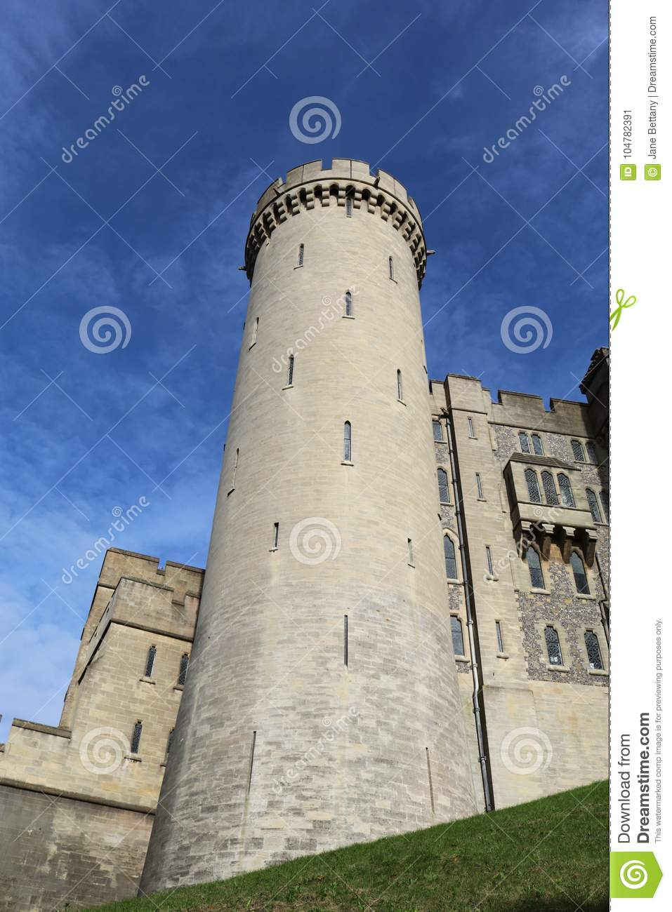 Tower at Arundel Castle Sussex UK