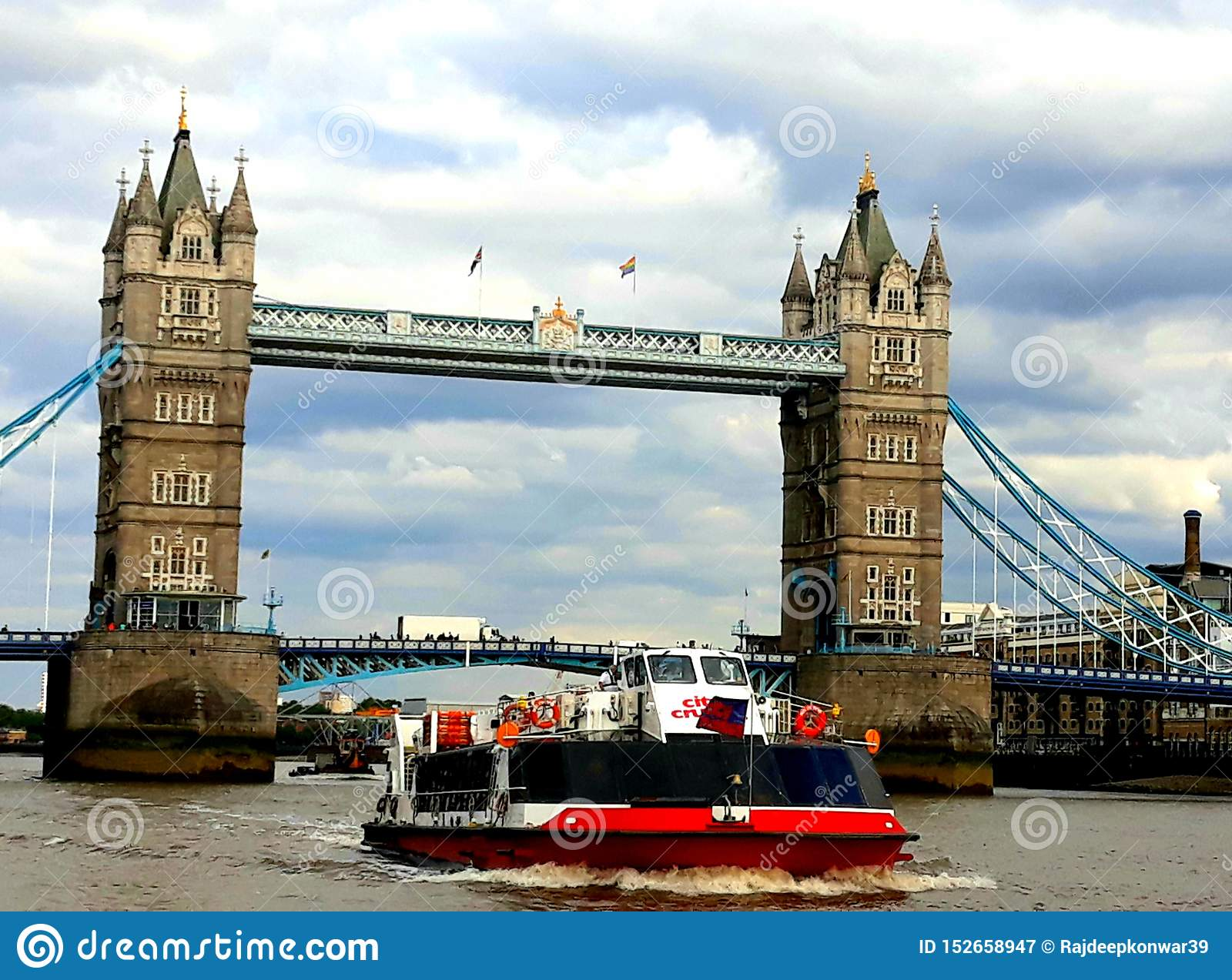 Tower Bridge with Boat