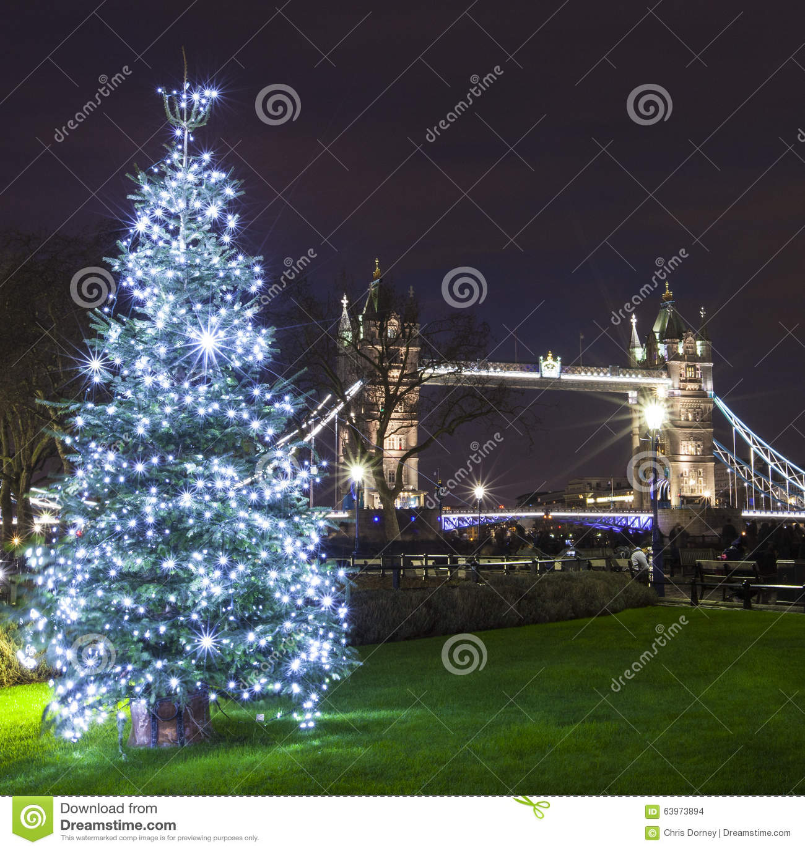 Tower Bridge At Christmas Stock Photo - Image: 63973894