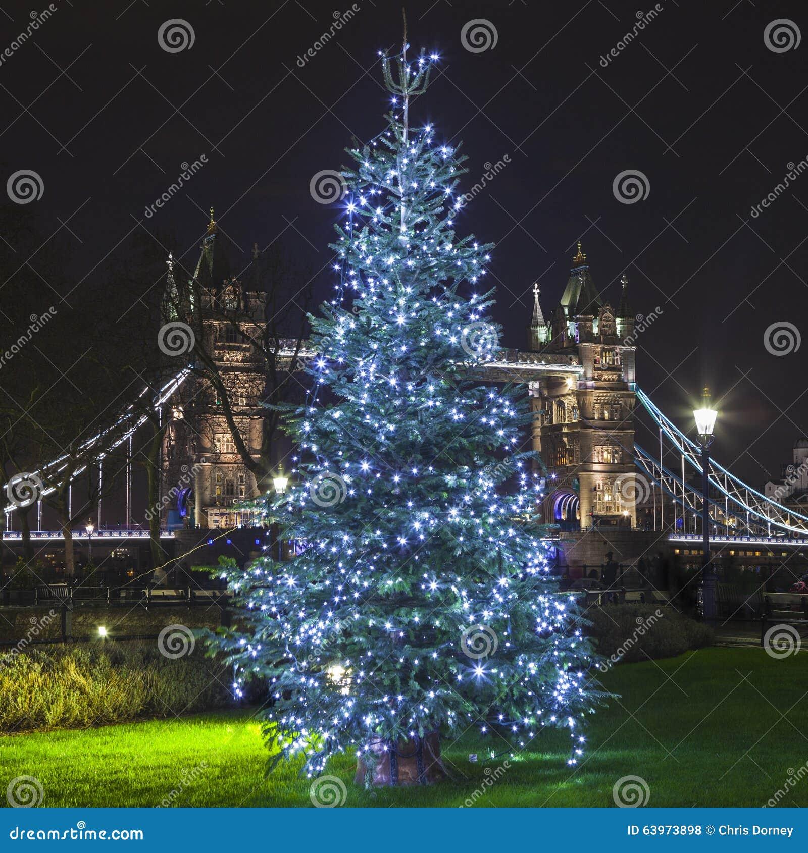 Tower Bridge At Christmas Stock Photo - Image: 63973898