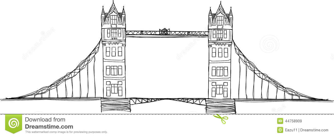 Pictures Of Tower Bridge London Drawing Rock Cafe