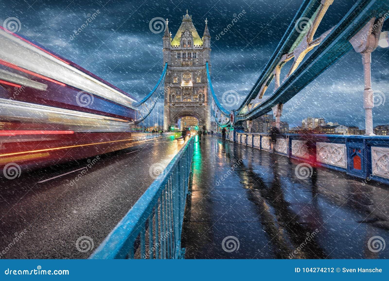The Tower Bridge in London in winter