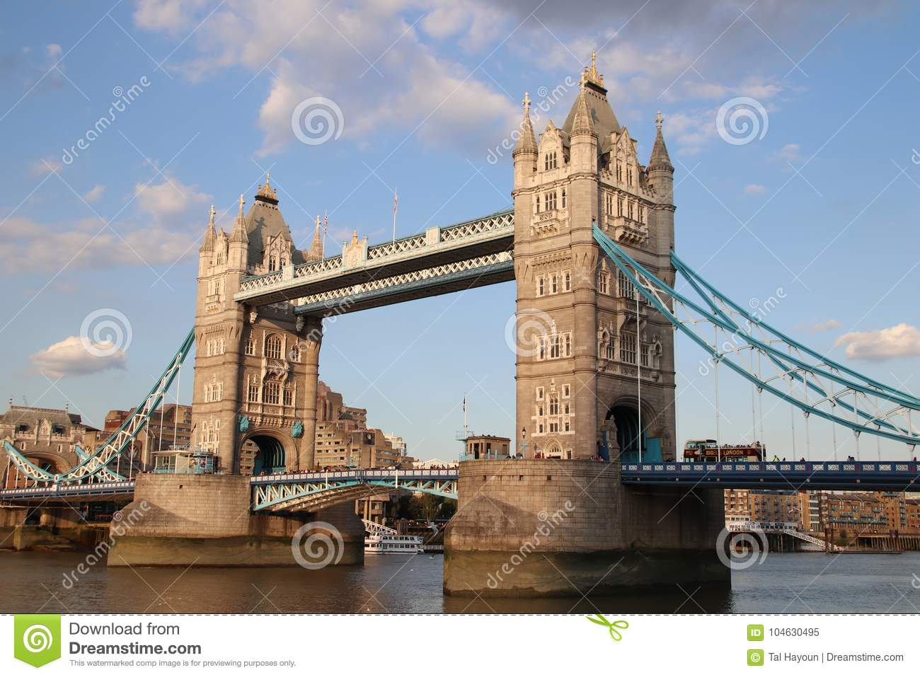 Tower Bridge A Major Tourist Attraction And Famous Icon Of The City London England
