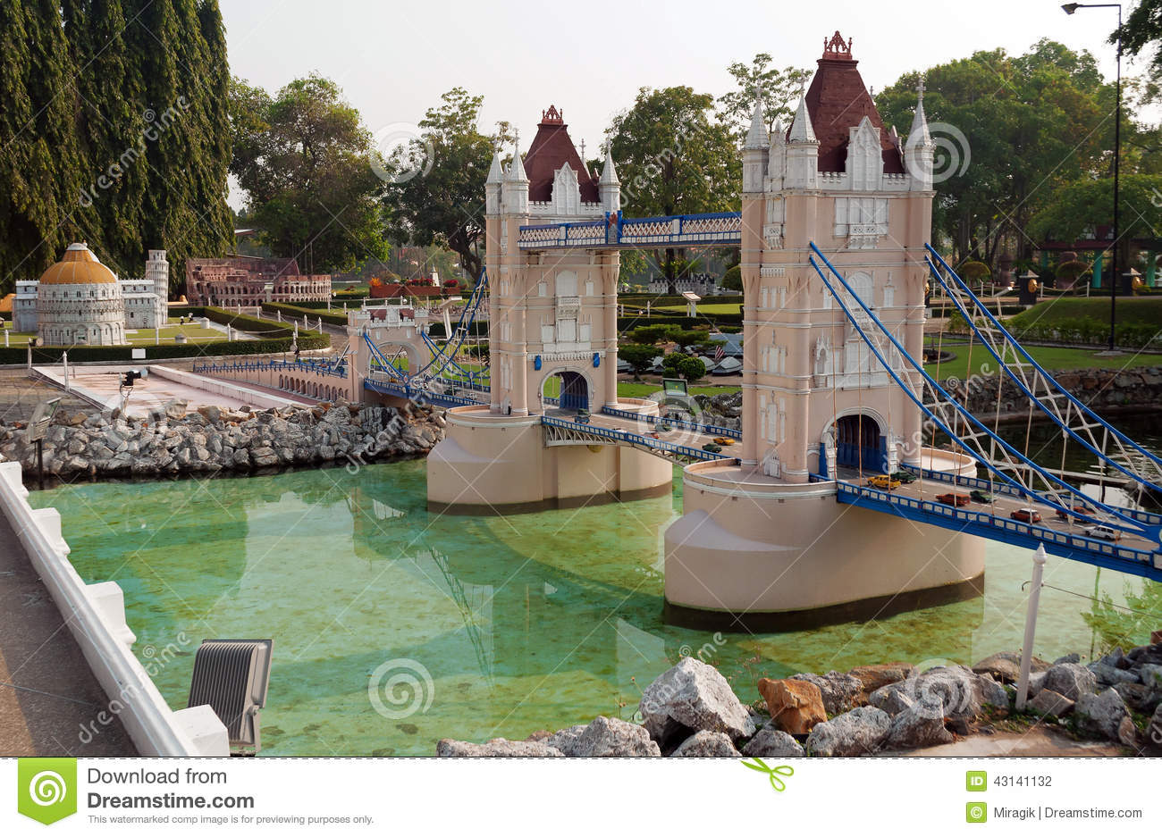 Tower Bridge In Mini Siam Park Editorial Photography ...