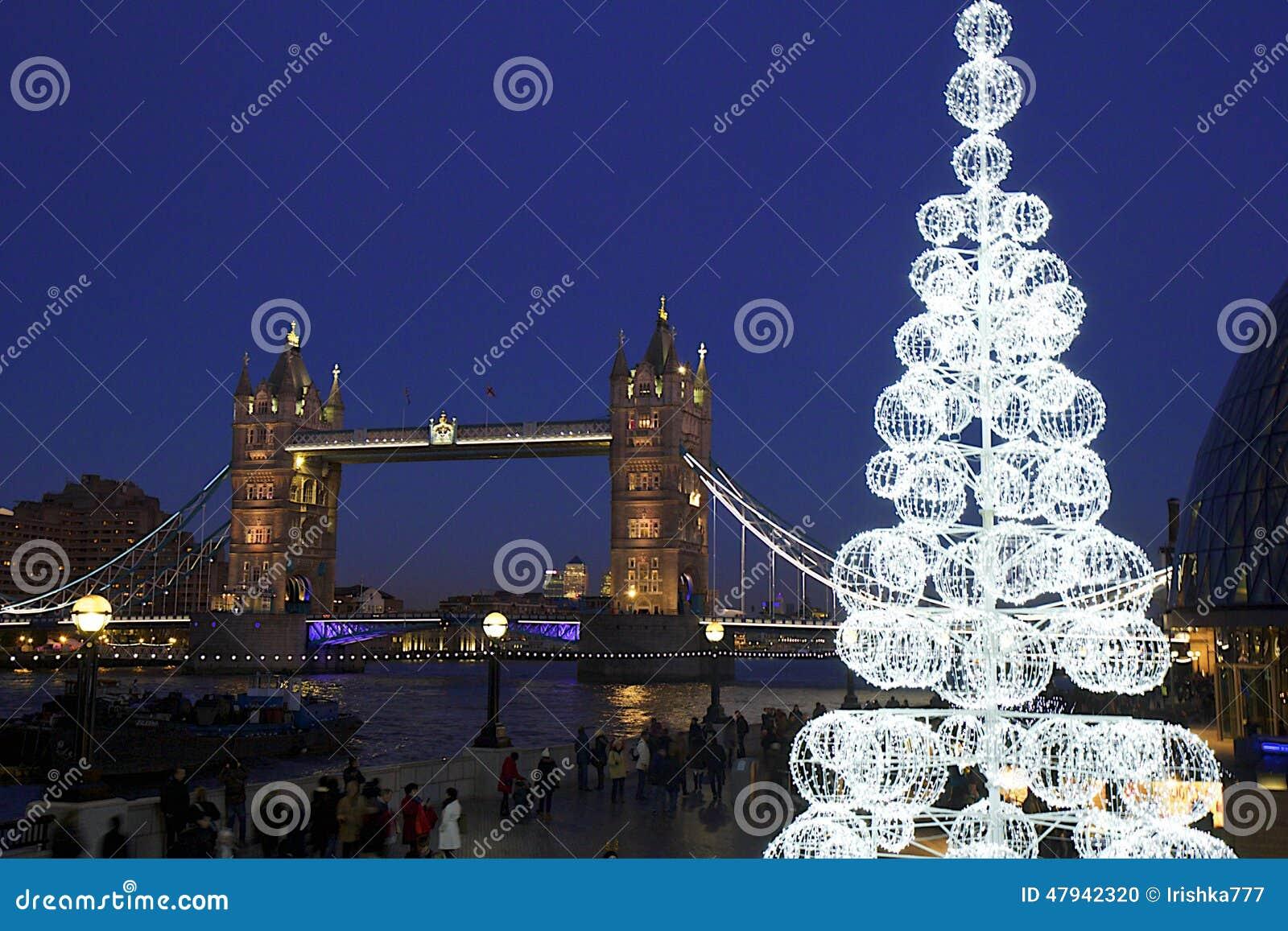 Tower Bridge At Night, London Editorial Image - Image ...