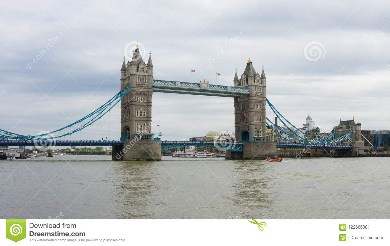 View Of Tower Bridge Over The River Thames In City London England One Most Famous Bridges World And A Well Known Iconic Landmark