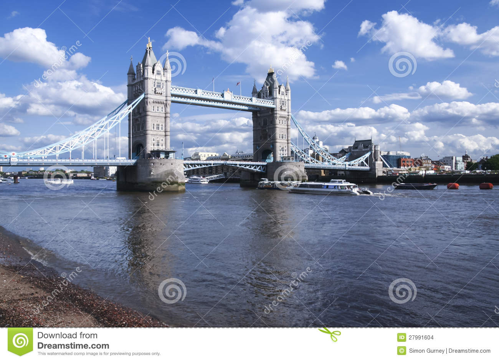 Tower bridge river thames london city uk