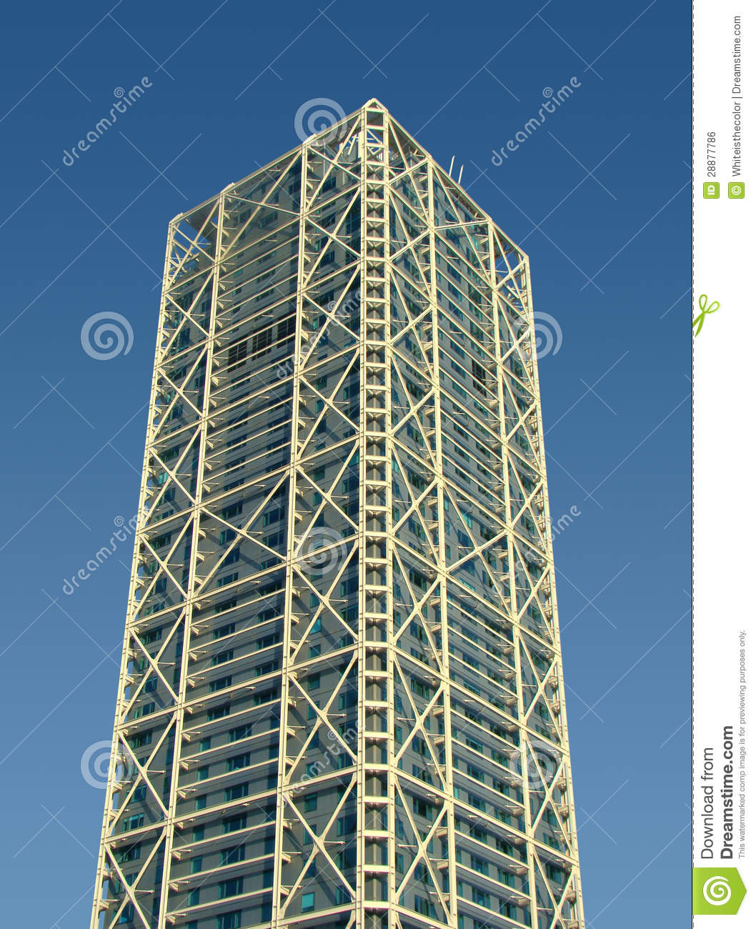 Tower building with external metallic structure royalty for Architecte structure