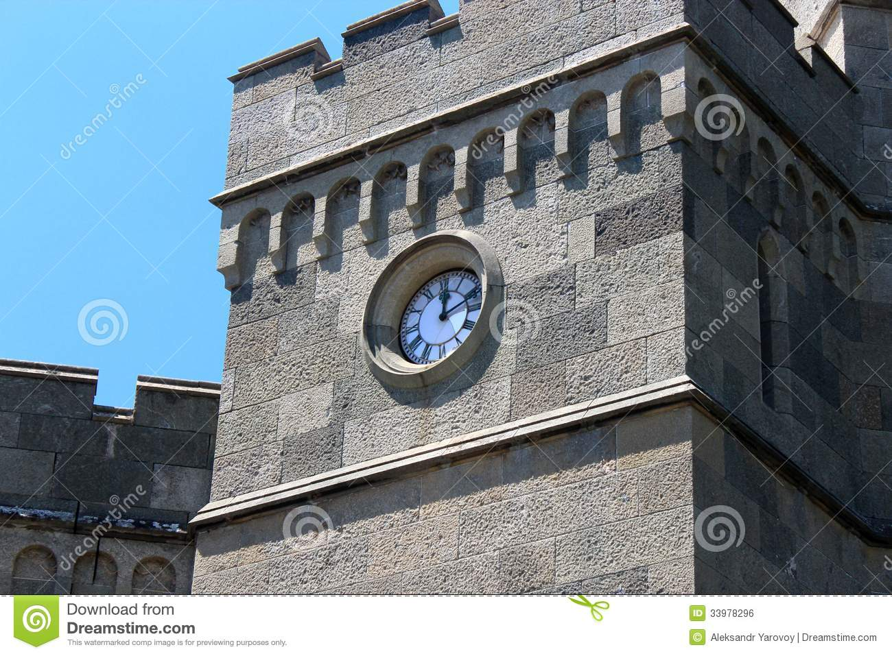 Tower Clock Royalty Free Stock Image - Image: 33978296