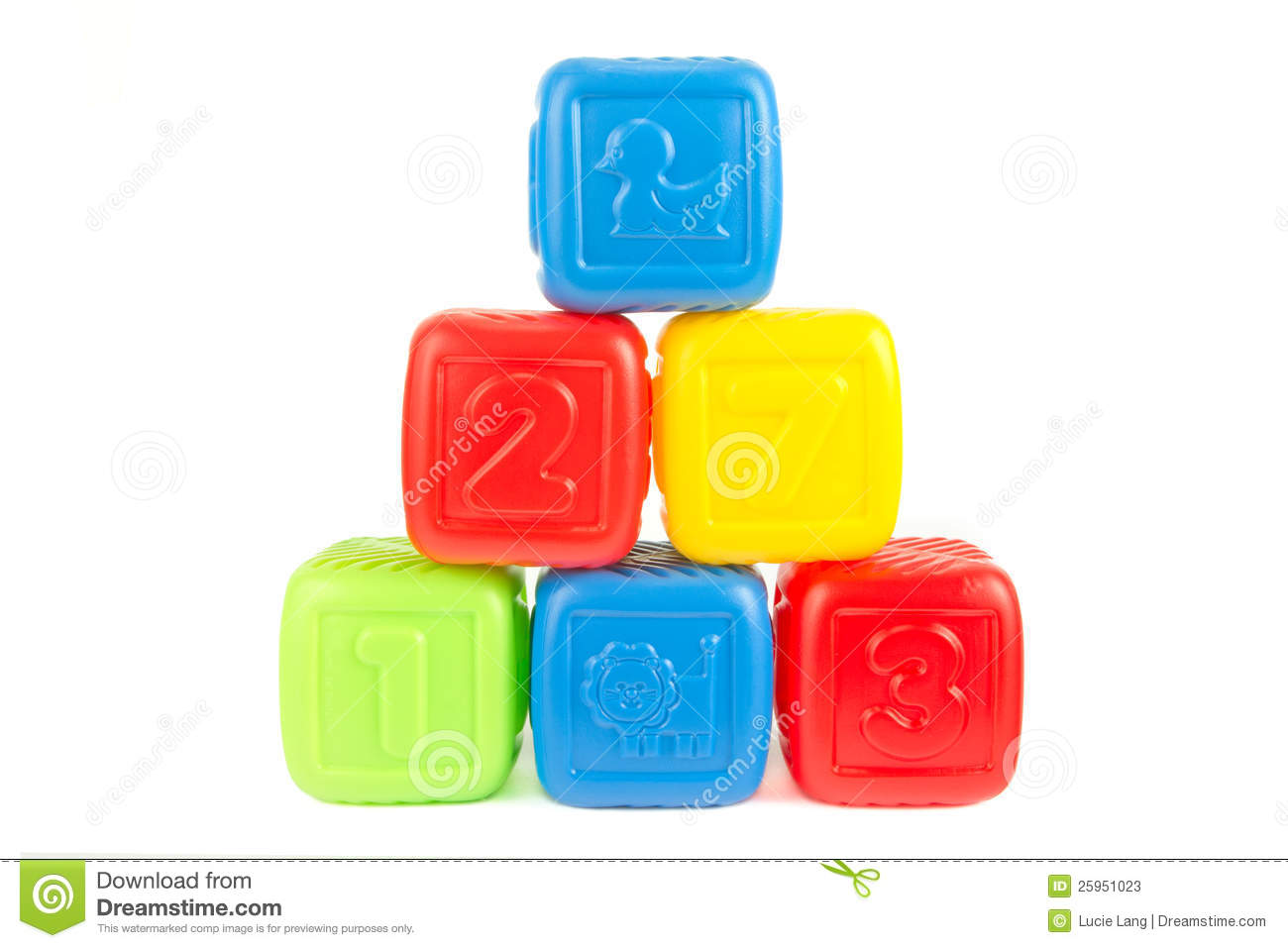 Tower of colourful plastic building blocks stock photos for Plastic building blocks home construction
