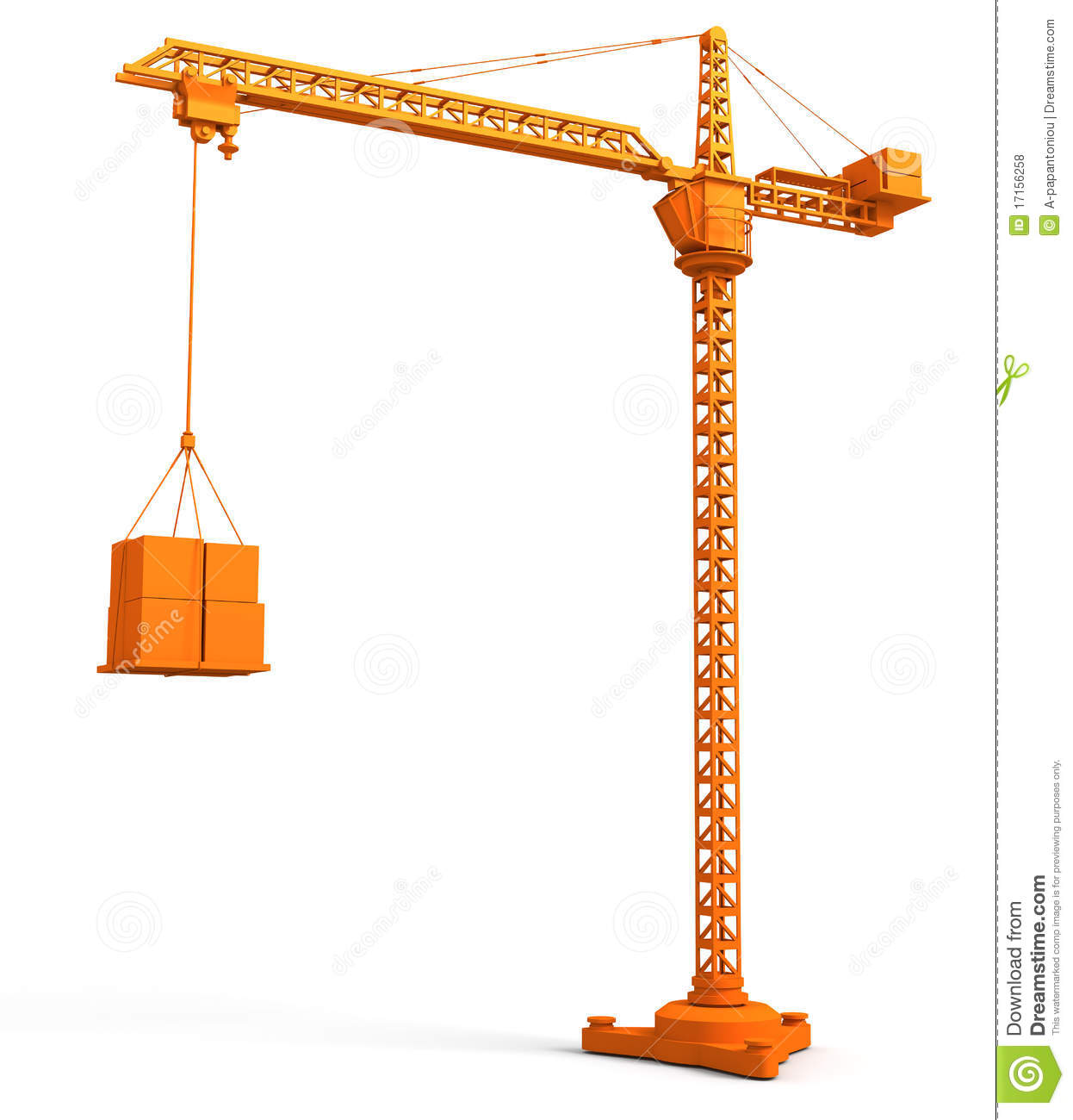Tower crane stock illustration illustration of for The crain