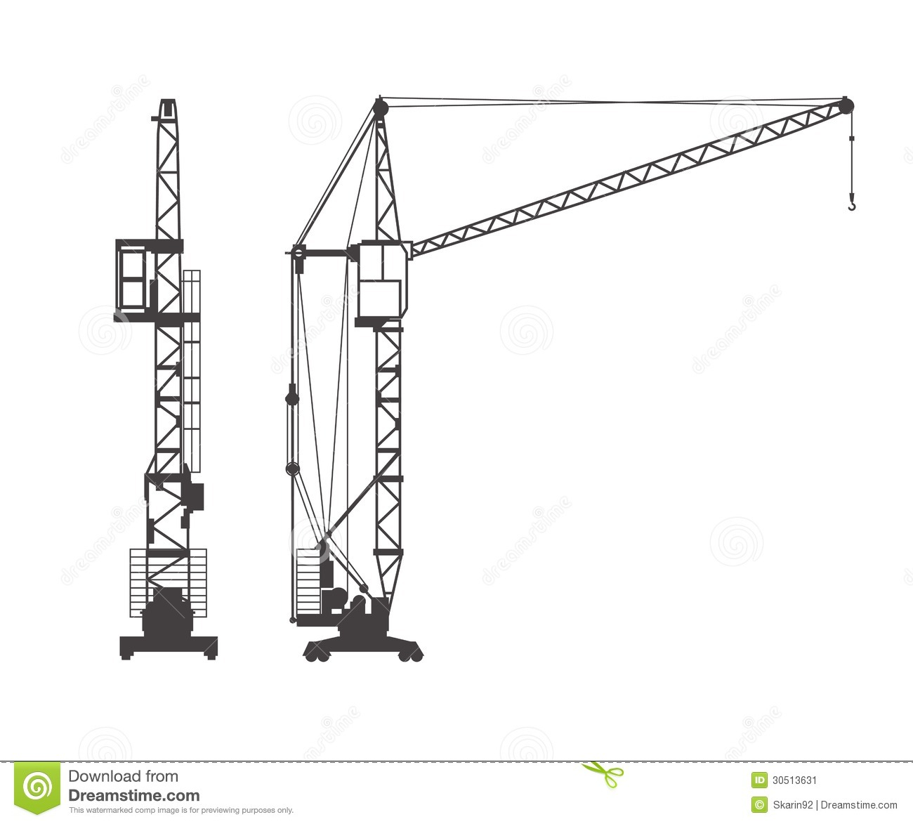 Tower crane stock illustration. Image of graphic ...