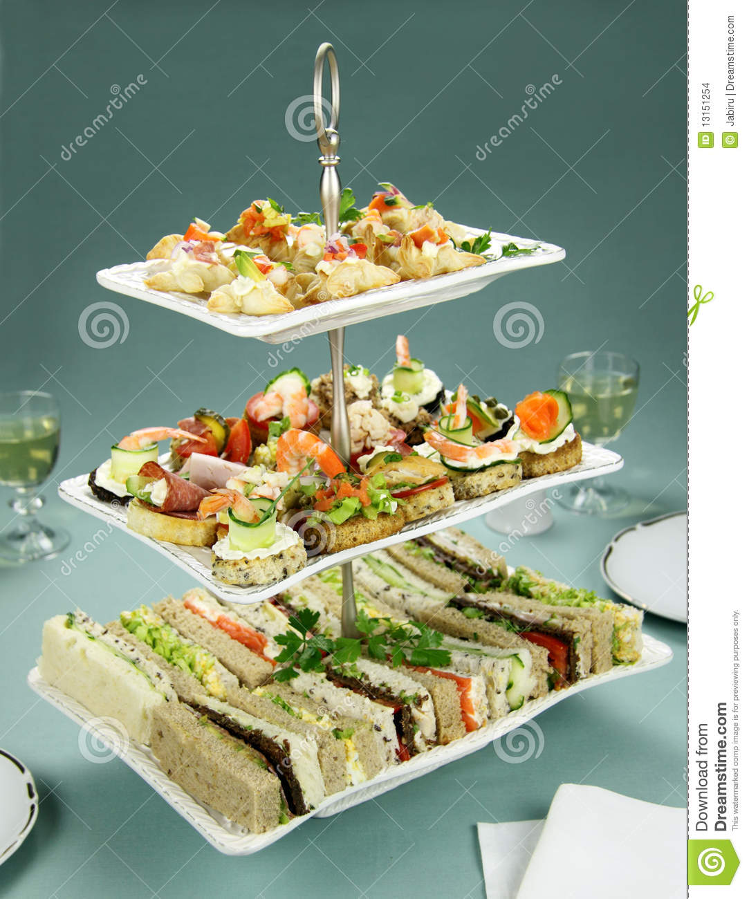 Tower Of Finger Food Stock Images Image 13151254